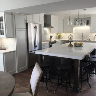 remodeled kitchen with an island